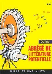 Abrege de litterature potentielle - Intérieur - Format classique