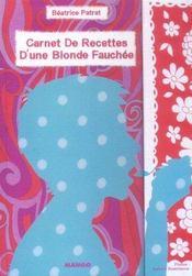 Carnet de recettes d'une blonde fauchee - Intérieur - Format classique