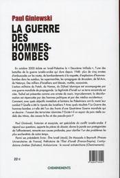 La guerre des hommes-bombes - 4ème de couverture - Format classique