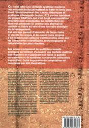 Traité de construction en terre - 4ème de couverture - Format classique