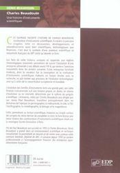 Charles Beaudoin ; une histoire d'instruments scientifiques - 4ème de couverture - Format classique