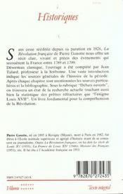 La revolution francaise - 4ème de couverture - Format classique
