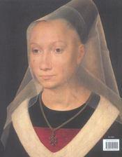 Les Portraits De Memling (Relie) - 4ème de couverture - Format classique