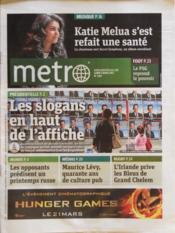 Metro Paris N°2167 du 05/03/2012 - Couverture - Format classique