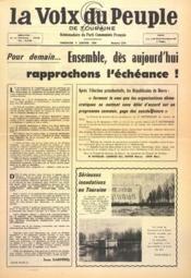 Voix Du Peuple De Touraine (La) N°1276 du 09/01/1966 - Couverture - Format classique