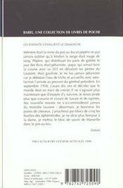 Les Enfants S'Ennuient Le Dimanche Babel 402 - 4ème de couverture - Format classique