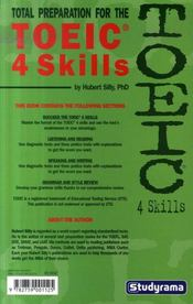 Total preparation for the TOEIC 4 skills - 4ème de couverture - Format classique