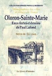 Oloron-Sainte-Marie. Eaux Fortes - Couverture - Format classique