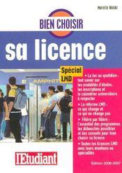 Bien choisir sa licence (edition 2006-2007) - Intérieur - Format classique