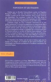Napoleon et les italiens - 4ème de couverture - Format classique