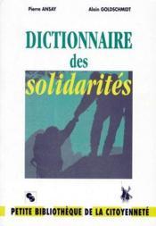 Dictionnaire des solidarités - Couverture - Format classique