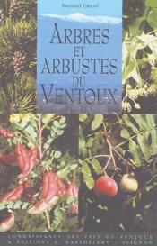 Arbres et arbustes du Ventoux - Couverture - Format classique