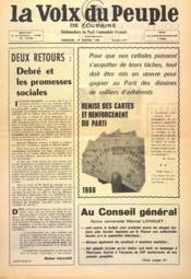 Voix Du Peuple De Touraine (La) N°1277 du 16/01/1966 - Couverture - Format classique
