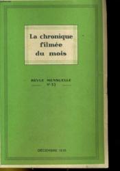 La Chronique Filmee Du Mois N°33 - Couverture - Format classique