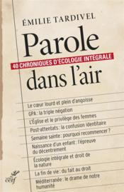 Vente livre :  Paroles dans l'air  - Emilie Tardivel