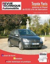 Rta 691.1 Toyota Yaris 1.0 Et 1.2vvt-I 03/2003 - Couverture - Format classique