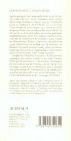 Gustav mahler - 4ème de couverture - Format classique