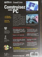 Grand livre construisez votre pc - 4ème de couverture - Format classique
