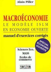 Macroeconomie : Le Modele Islm En Economie Ouvertemanuel D Exercices Corriges - Intérieur - Format classique