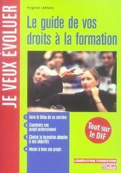 Le guide de vos droits à la formation - Intérieur - Format classique