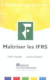 Maîtriser les IFRS - Intérieur - Format classique