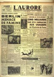 Aurore (L') N°1177 du 26/06/1948 - Couverture - Format classique