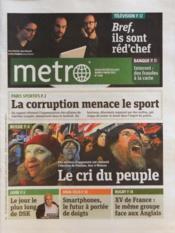 Metro Paris N°2168 du 06/03/2012 - Couverture - Format classique