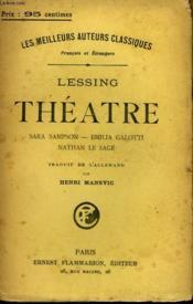 Theatre. Sara Sampson, Emilia Galotti, Nathan Le Sage. - Couverture - Format classique