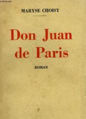 Don Juan De Paris. - Couverture - Format classique