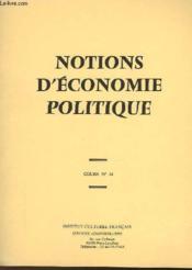Notions D'Economie Politique - Cours N°12 - Couverture - Format classique