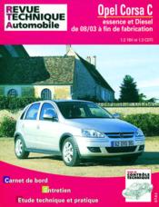 Rta 692.1 Opel Corsa 1.2 Twinport /1.3 Cdti 08/2003 - Couverture - Format classique