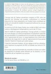 Optique 1re Annee Pcsi Cours Et Exercices Corriges - 4ème de couverture - Format classique