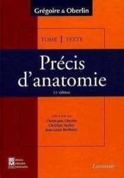 Precis D'Anatomie T.1 - Couverture - Format classique
