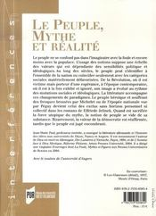 Le peuple, mythe et réalité - 4ème de couverture - Format classique