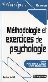 Methodologie Et Exercices De Psychologie ; Premier Cycle - Intérieur - Format classique