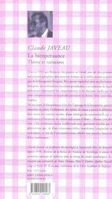 La Bienpensance: Thème et variations, Critique de la raison cosmétique - 4ème de couverture - Format classique
