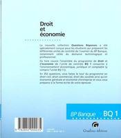 Qr droit et economie - 4ème de couverture - Format classique