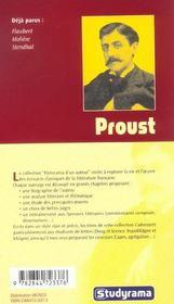 Proust - 4ème de couverture - Format classique