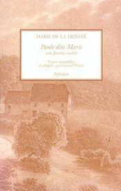 Paule Dite Marie - Intérieur - Format classique