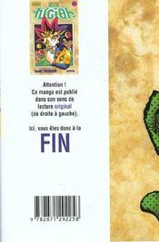 Yu-Gi-Oh t.3 - 4ème de couverture - Format classique