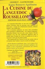 La cuisine du Languedoc-Roussillon - 4ème de couverture - Format classique