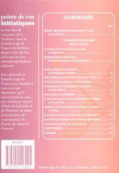 Revue Points De Vue Initiatiques N 122 - 4ème de couverture - Format classique