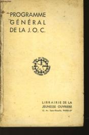 Programme General De La J.O.C. - Couverture - Format classique