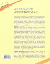 Comment réussir en ZEP - 4ème de couverture - Format classique