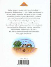 Ecologie (l') - 4ème de couverture - Format classique
