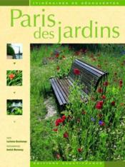 Paris des jardins - Couverture - Format classique