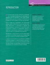 Reproduction - 4ème de couverture - Format classique