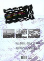 Figures de l'evenement - 4ème de couverture - Format classique