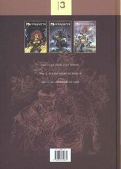 Mortepierre T.1 A T.3 - 4ème de couverture - Format classique