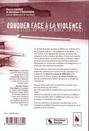 Eduquer Face A La Violence - 4ème de couverture - Format classique